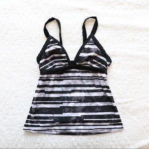 Champion swimsuit top tankini striped print beach